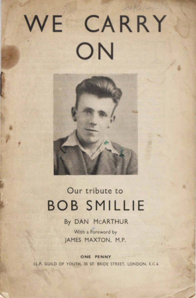 """We carry on. Our tribute to Bob Smillie"" by Dan McArthur."