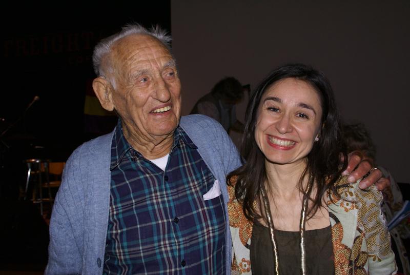 Del Berg with Marina Garde. Photo Jeannette Ferrary