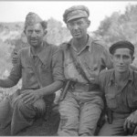 Cabo Narciso Gonzales, Adjutant; Lieutenant Jack Cooper, Jefe; Rafael Maltes, Commissar Special MG Co. EM… Gandesa August 1938. The 15th International Brigade Photographic Unit Photograph Collection; ALBA Photo 11; ALBA Photo number 11-1681 (E1200). Tamiment Library/Robert F. Wagner Labor Archives. Elmer Holmes Bobst Library, 70 Washington Square South, New York, NY 10012, New York University Libraries.