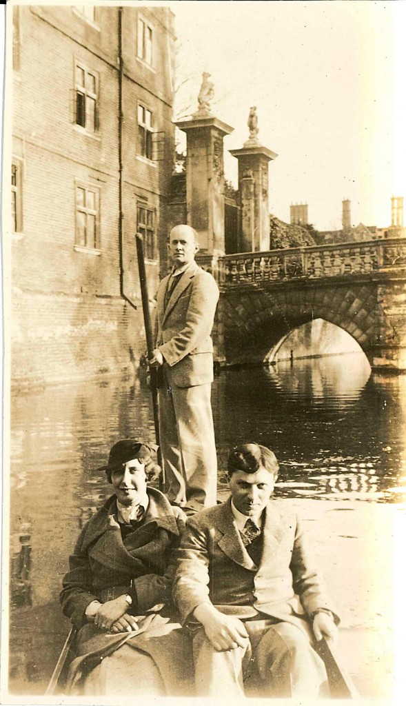 Maclaurin and friends on Cam River, 1936.