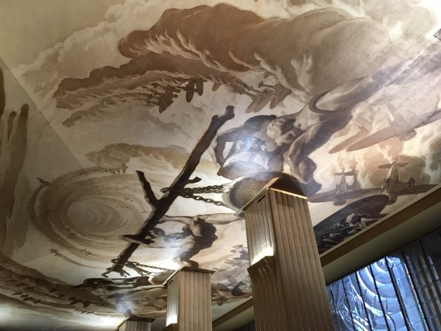 Time, by José María Sert, ceiling of Main Lobby in 30 Rockefeller Plaza, New York. Photo Khjara (CC BY-SA 3.0)