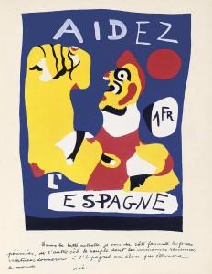 Aidez Espagne, by Joan Miró