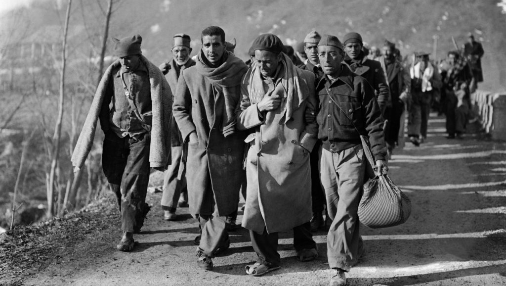 AFP | Spanish Republican soldiers fleeing Gen. Francisco Franco's forces arrive in France in February, 1939.