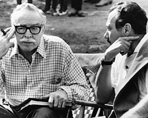 "Edward Lewis, right, and the screenwriter Dalton Trumbo in 1967. Mr. Lewis hired Trumbo, a victim of the Hollywood blacklist, to secretly write ""Spartacus"" and then demanded that he get credit. Via Lewis family"