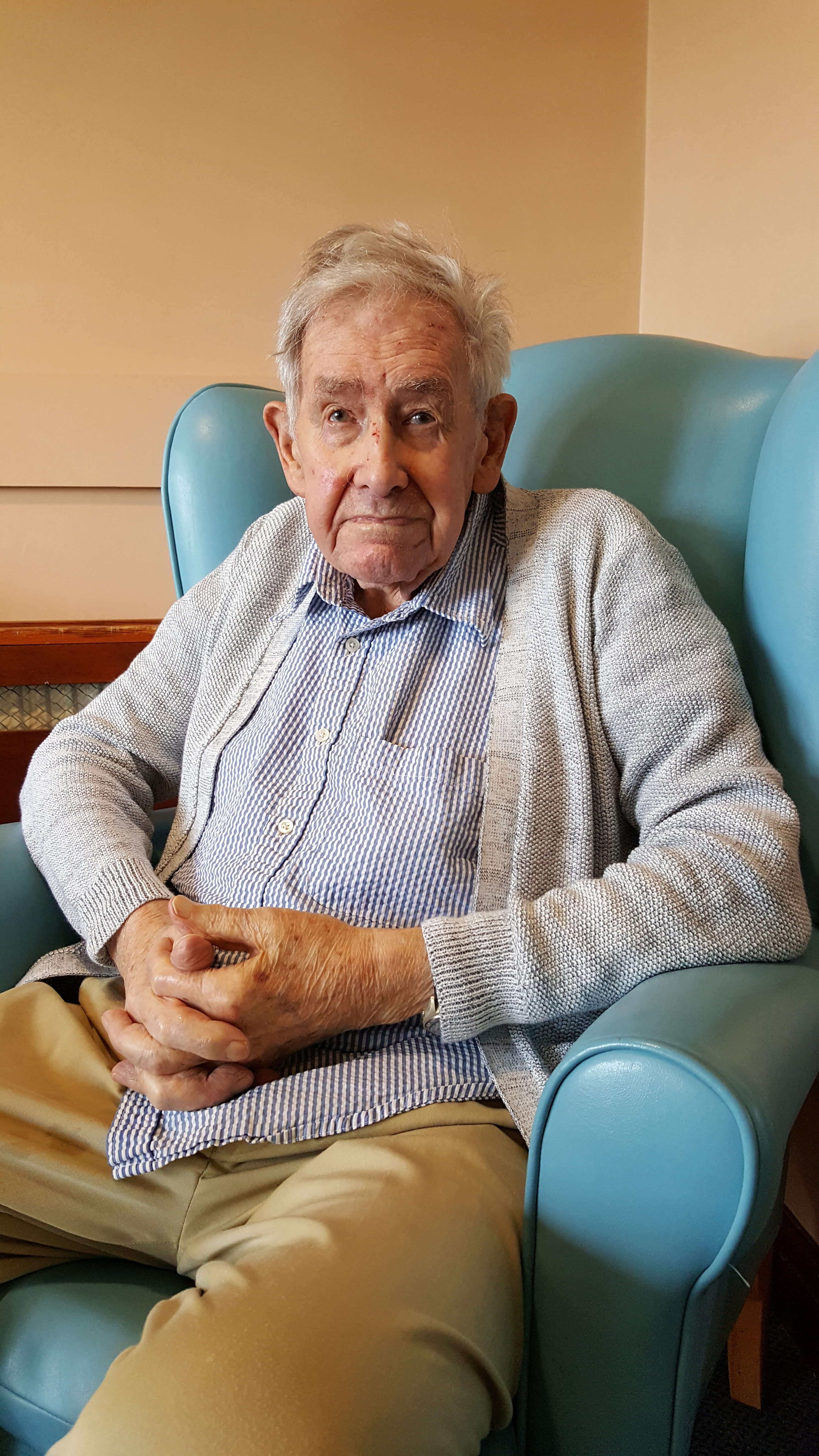 Servante at 98. Photo Richard Baxell