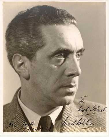 Ernst Toller in 1938. Photo Erich Schaal.